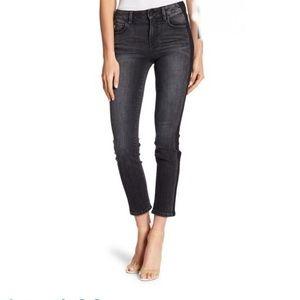 Level 99 Bailey Straight Leg Faded Black Jeans 26